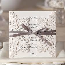 and white wedding invitations wishmade 50x square laser cut wedding invitations