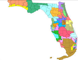 Map Of Florida Cities And Counties by 2000 Redistricting