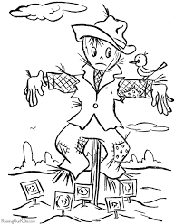 scary halloween coloring pages scarecrow 006