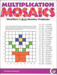 multiplication math mosaics 024189 details rainbow resource