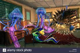 ernie bernie oscar u0026 sykes shark tale 2004 stock photo royalty