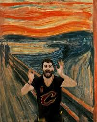 Meme Painting - meme of kevin love in the scream painting is the best of the nba