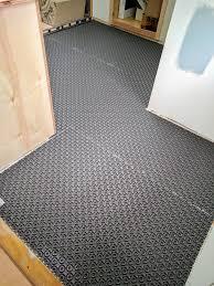master bathroom floor ready for floor heat wire old