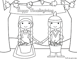 cute thanksgiving pilgrim coloring pages getcoloringpages com