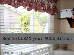 How To Take Down Venetian Blinds To Clean Sunny Simple Life How To Clean Wood Blinds