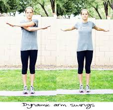 Arm Cross - dynamic arm swings inspired rd