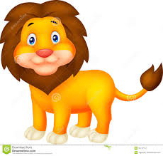 cute cartoon lion stock vector image 45747572