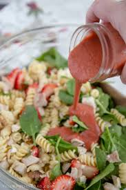 balsamic strawberry pasta salad yellow bliss road