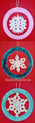 paper plate snowflake ornament crafts winter