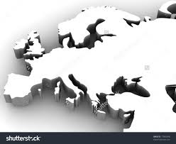 Map Of Europe Black And White by Map Europe 3d Stock Illustration 17982448 Shutterstock