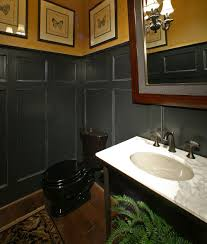 White Marble Countertop Black Toilet Almond Sink And Fish