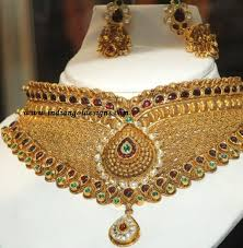 gold necklace sets designs images Gold and diamond jewellery designs gold necklace set jpg