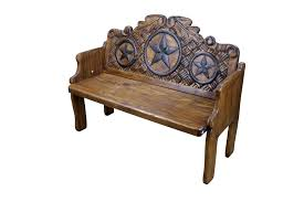 texas star hand painted mexican solid wood bench furniture