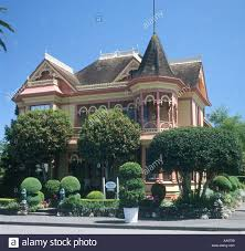 california style house victorian style house in ferndale california usa stock photo