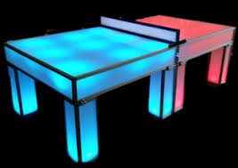 Ping Pong Table Rental Led Ping Pong Rental U2014 National Event Pros