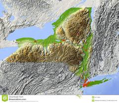 Map Of State by New York Relief Map Of State Royalty Free Stock Images Image
