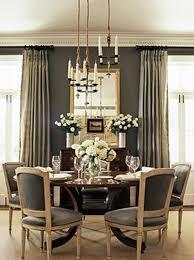 gray walls paint color gray silk drapes gilt mirror vintage