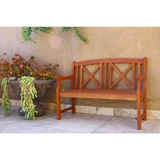 Eucalyptus Bench - eucalyptus 4 ft outdoor garden bench free shipping today