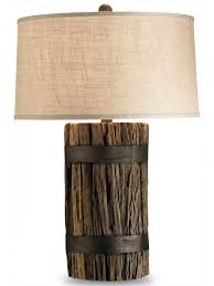 tea time distressed white table lamp cottage home
