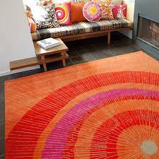 Area Rugs Orange District17 Eccentric Large Area Rug In Orange And Patterned