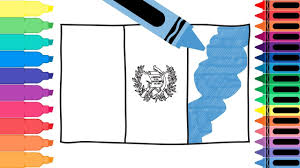 Guatemala Flag How To Draw Guatemala Flag Drawing The Guatemalan Flag