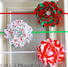 christmas headbands baby girl christmas headband set three shabby flower