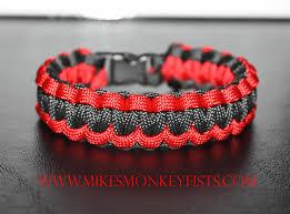 paracord bracelet style images Paracord survival bracelets red and black gif