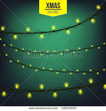 abstract creative christmas garland light isolated stock vector