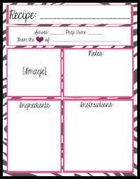 mesa u0027s place full page recipe templates free printables