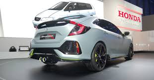 honda hatchback type r the 2017 civic hatchback prototype shows what the type r will look