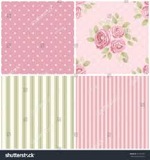 Shabby Chic Kitchen Wallpaper by Set Cute Seamless Shabby Chic Patterns Stock Illustration