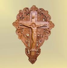 crucifix jesus christ cross art wood carving icon