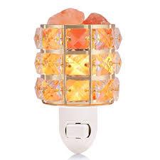 crystal plug in night light amazon com himalayan salt l night light natural salt rocks pink