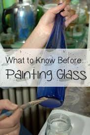 How To Paint Inside Glass Vases Best 25 How To Paint Glass Ideas On Pinterest Painted Glass