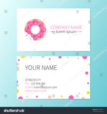 vector sweet business card donut cafe stock vector 389107321