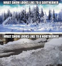 Funny Snow Meme - how you see snow depends on where you live the meta picture