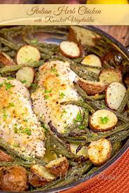 Roasted Vegetable Recipes by Italian Herb Chicken With Roasted Vegetables The Midnight Baker