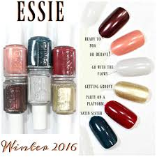 essie winter 2016 nail polish collection swatches review