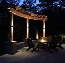 Patio Pillar Lights Landscape Lighting Led Outdoor Fixtures Bulbs Volt Lighting