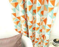 geometric orange curtains designs mellanie design