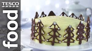 how to make christmas tree cake decorations tesco food youtube