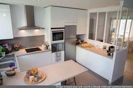 cuisine blanche moderne cuisine blanche moderne avec verrière et ilôt central 3 laurence