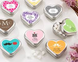 mint to be wedding favors mint for you brushed metal heart shaped mint tin wedding