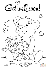 kids get well soon get well coloring pages 25 get well soon coloring pages