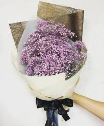 baby breath purple baby breath bouquet