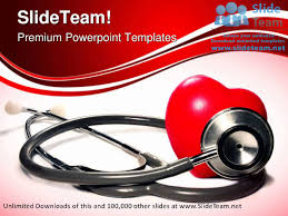stethoscope and heart medical powerpoint templates themes and