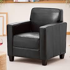 Black Leather Armchairs Black Leather Armchair Amazon Co Uk