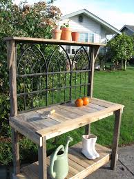Inexpensive Potting Bench by Rustic Wrought Iron Potting Bench For The Home Pinterest