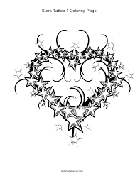 coloring pages stars hearts stars pattern coloring free
