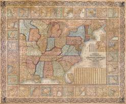 United States Wall Map by Historical Maps Of The United States And North America Vivid Maps